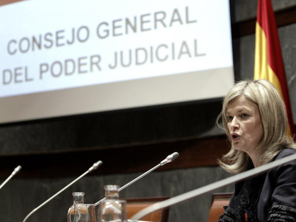 La portavoz del Consejo General del Poder Judicial, Gabriela Bravo