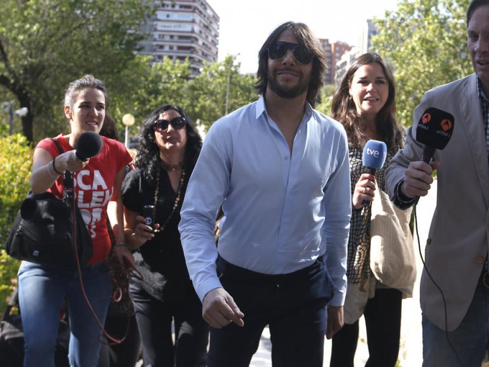 El bailarín Joaquín Cortés llega a la Audiencia Provincial de Madrid