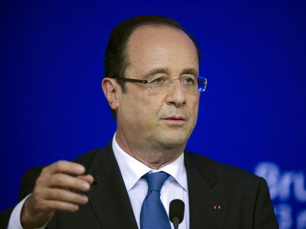 Hollande en un acto en Bruselas el pasado 23 de mayo