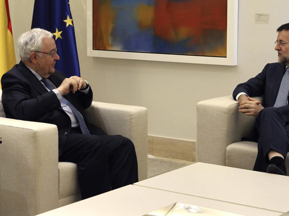 El presidente del PAR habla con Mariano Rajoy en la Moncloa