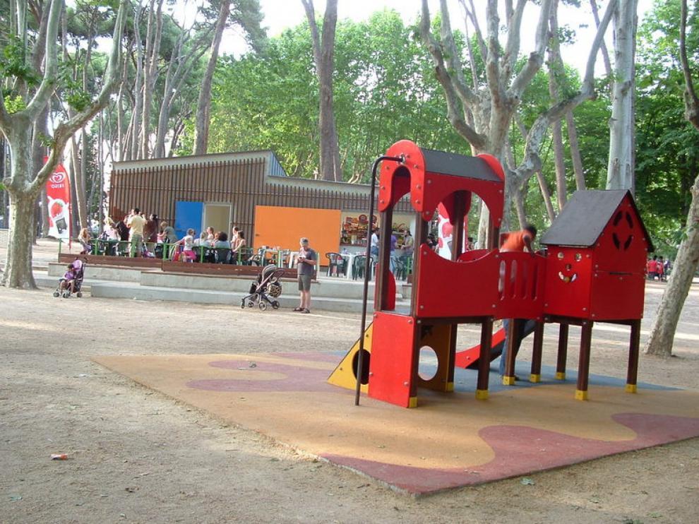 En la imagen puede verse la nueva zona del parque Miguel Servet de Huesca