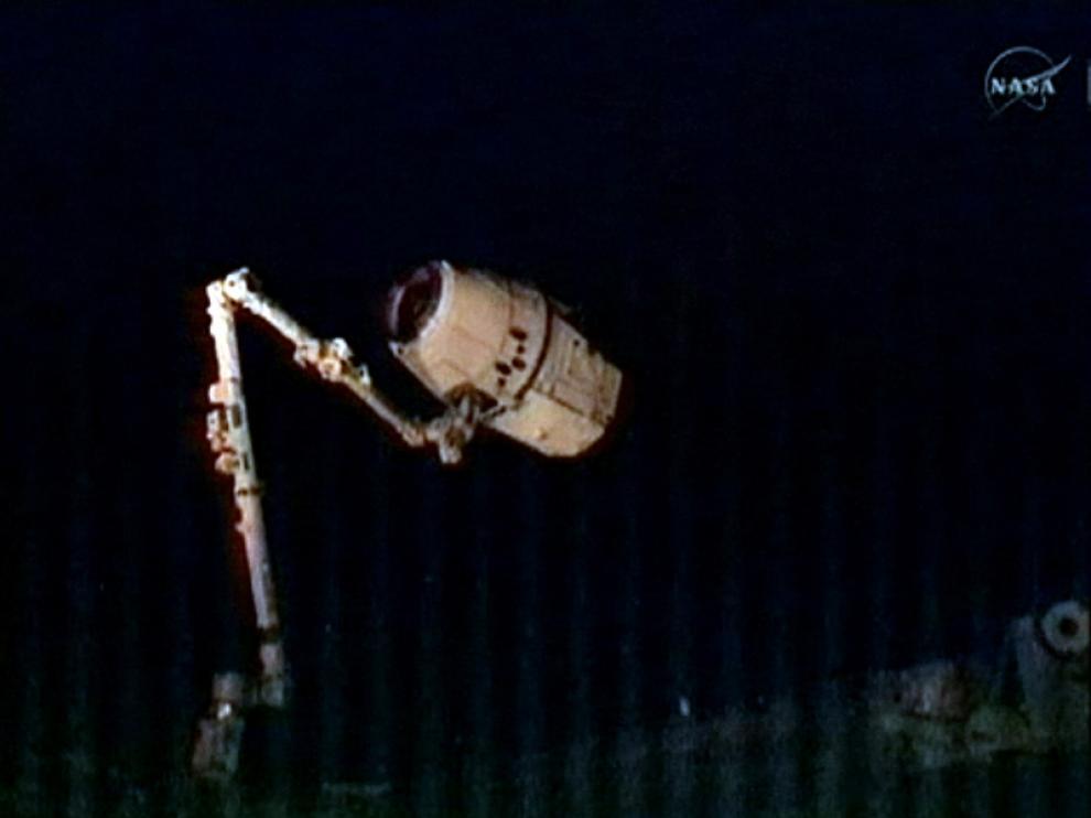 Imagen de la captura del vehículo espacial