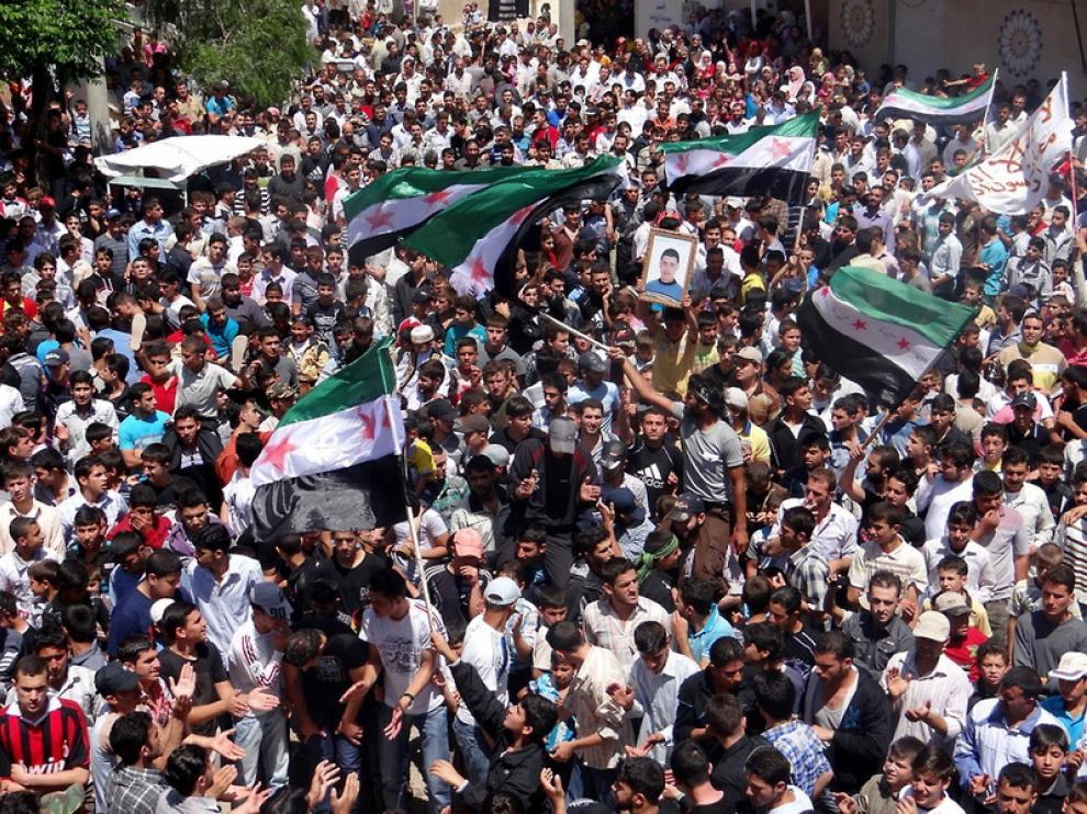 Protestas contra el regimen sirio