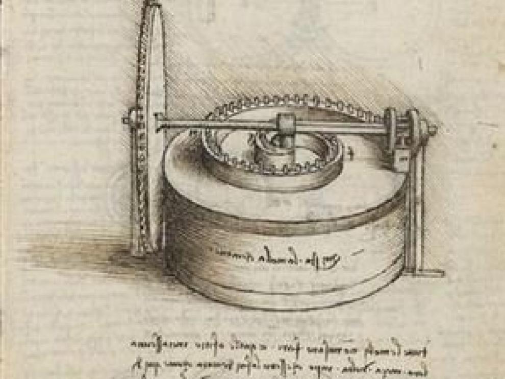 Una de las obras que muestra la Biblioteca Nacional.