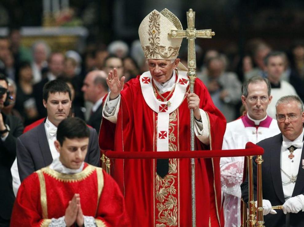 El Papa durante la misa de este domingo