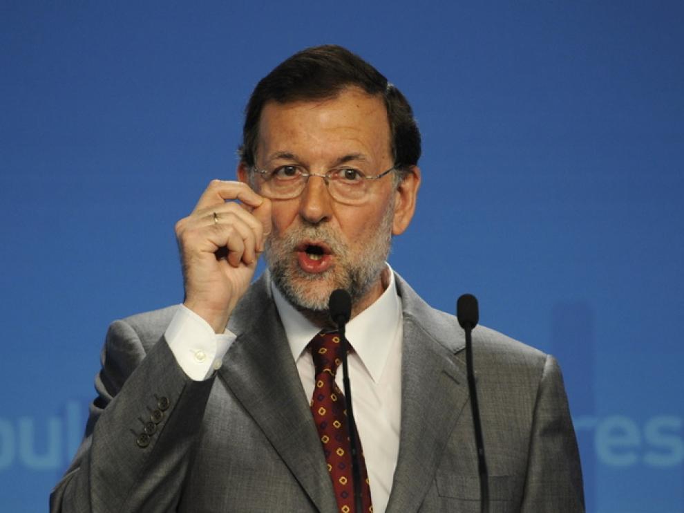 Rajoy durante su comparecencia esta mañana
