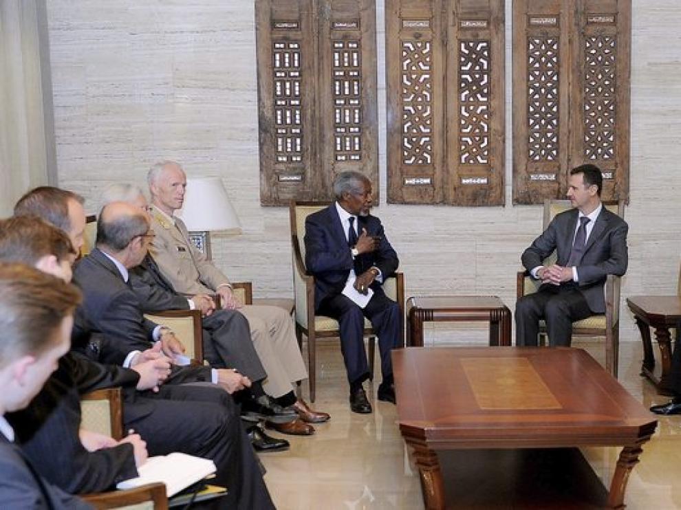 Reunión de Al Asad con Anan