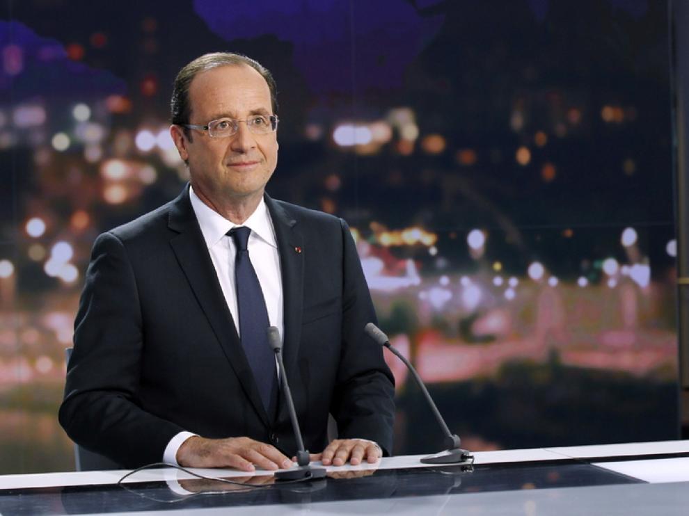 Hollande durante la entrevista en France2