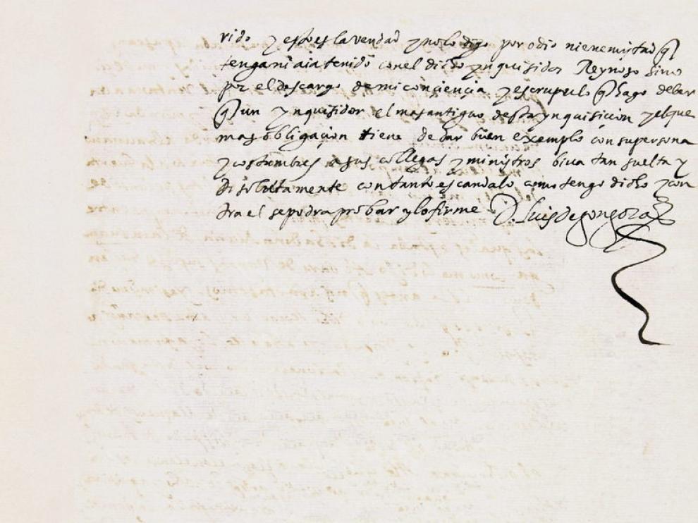 Texto firmado por Góngora