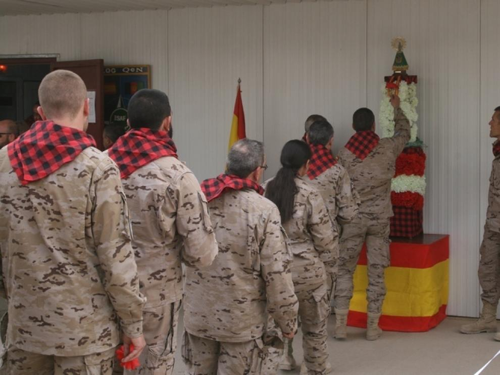 Ofrenda de los soldados españoles en Afganistán