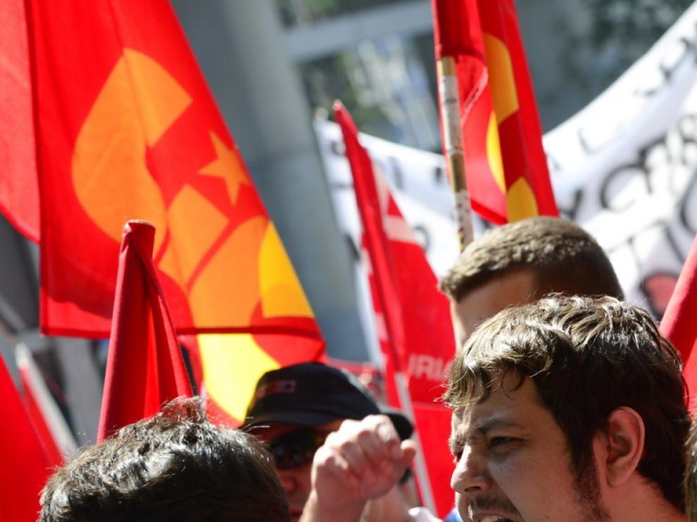 Manifestación de los mineros en Madrid