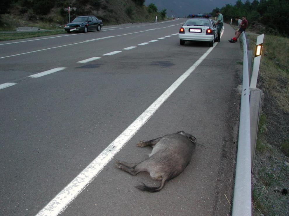 Imagen de archivo de un accidente en Huesca