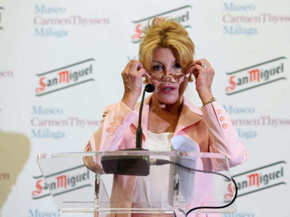 La baronesa Carmen Thyssen