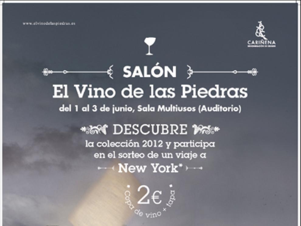 Cartel del Salon El vino de las piedras