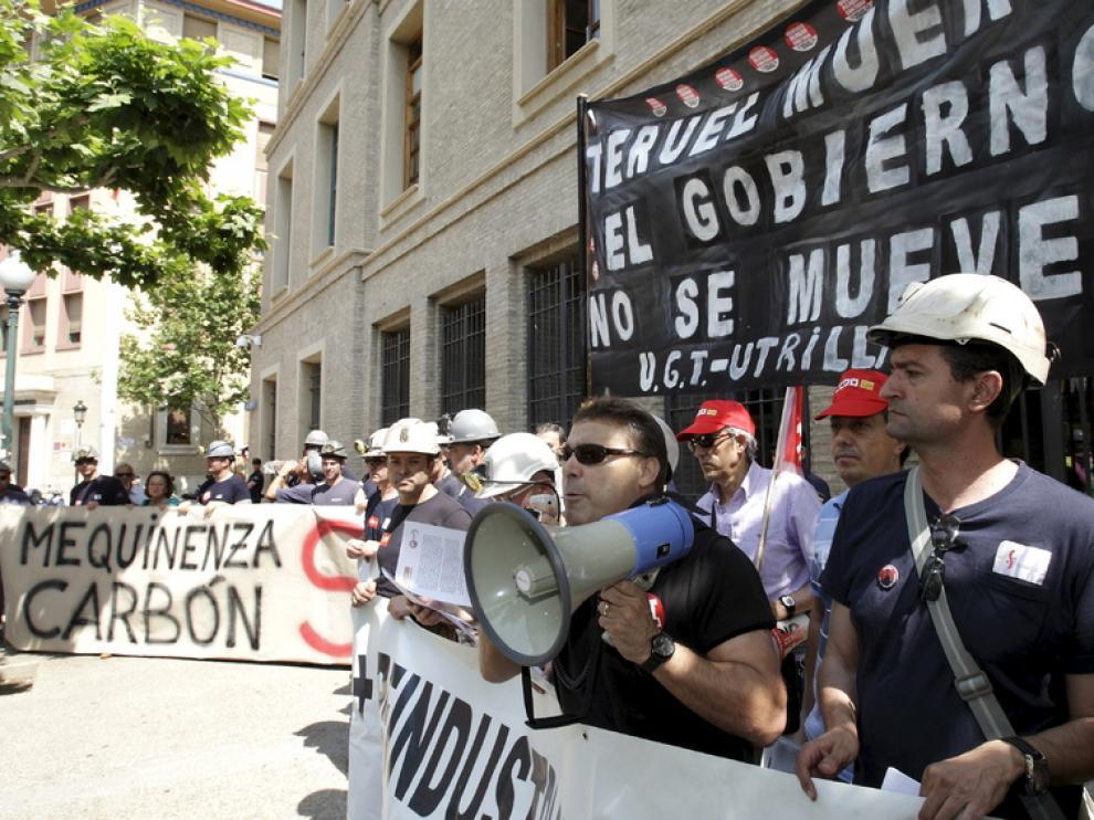 Manifestación por la minería, el 30 de mayo en Zaragoza