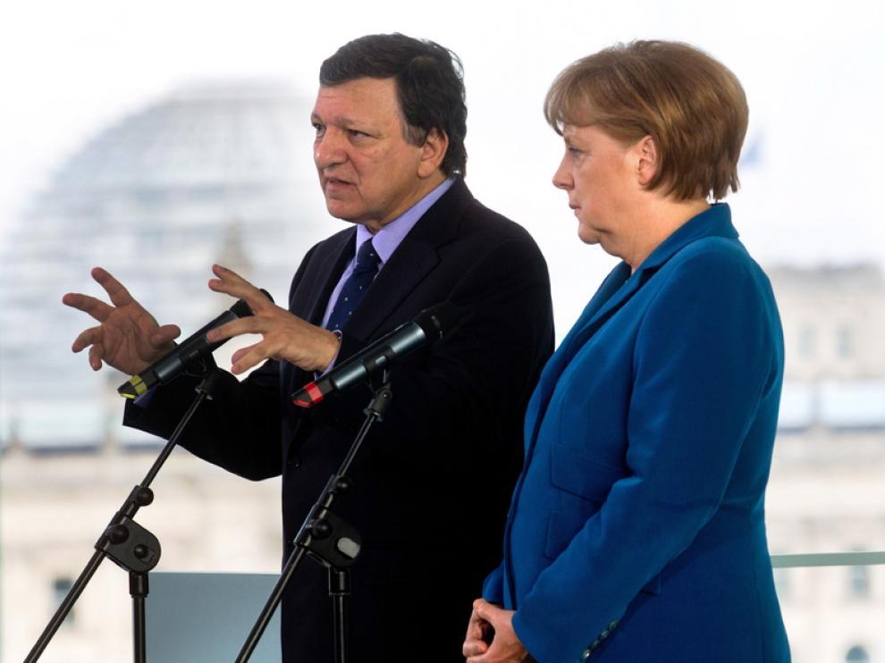 Comparecencia de Merkel y Barroso
