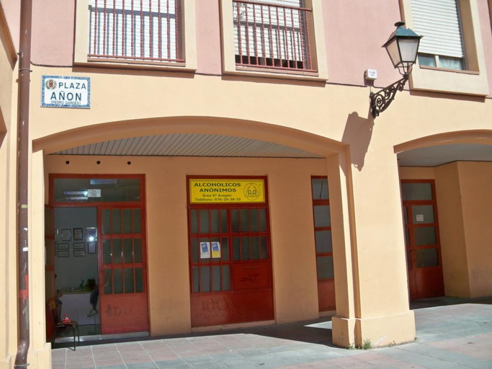 Sede de alcohólicos anónimos en Zaragoza