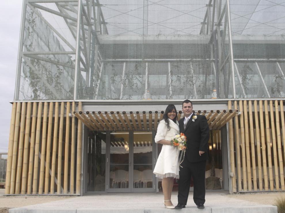 Una de las primeras bodas, en enero de 2010