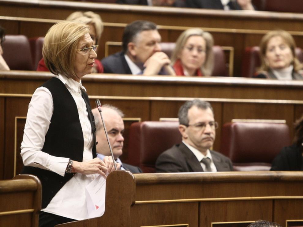 Rosa Díez en una foto de archivo en el Congreso