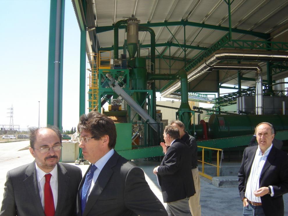 Inauguración de la planta de biomasa en Ejea