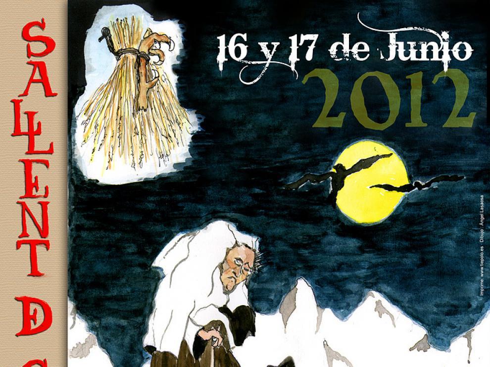 Cartel de la I Feria de Brujas, Mitos y Leyendas de Sallent de Gállego