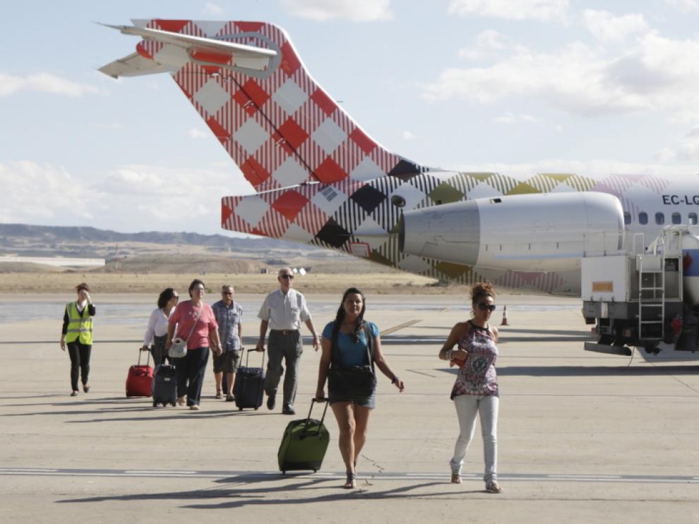 Vuelo inaugural de Volotea en Zaragoza