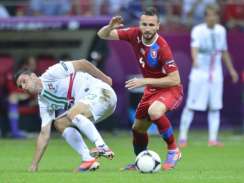 El jugador del R.Zaragoza Hélder Postiga, en un partido con Portugal