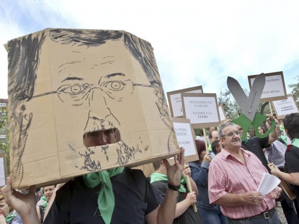 Protesta en Zaragoza
