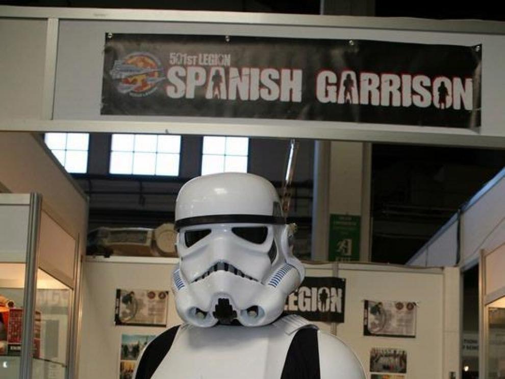 Un aficionado en el Salón del Comic de Barcelona