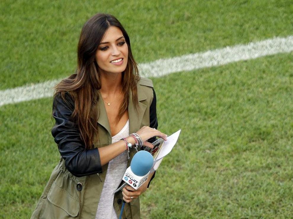 Sara Carbonero, trabajando en la Eurocopa 2012