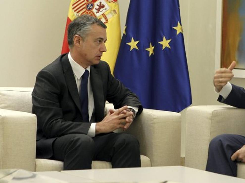 El presidente del Gobierno, Mariano Rajoy, y el lehendakari, Iñigo Urkullu, en una foto de archivo.