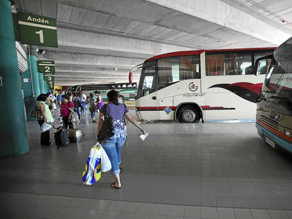 Imagen de archivo de la estación de autobuses de Teruel