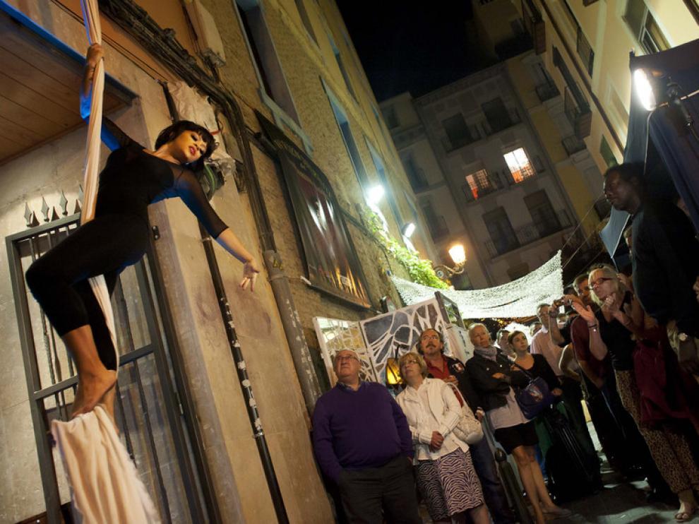 Pasada edición de la Noche en Blanco en Zaragoza