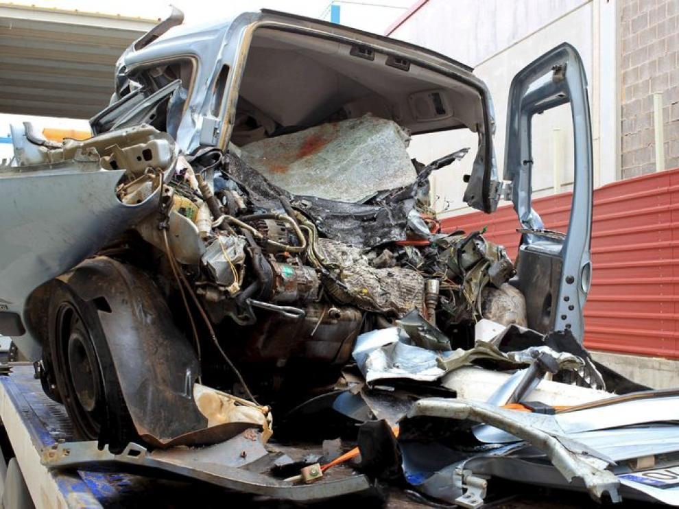 Estado del vehículo en el que viajaban los dos fallecidos
