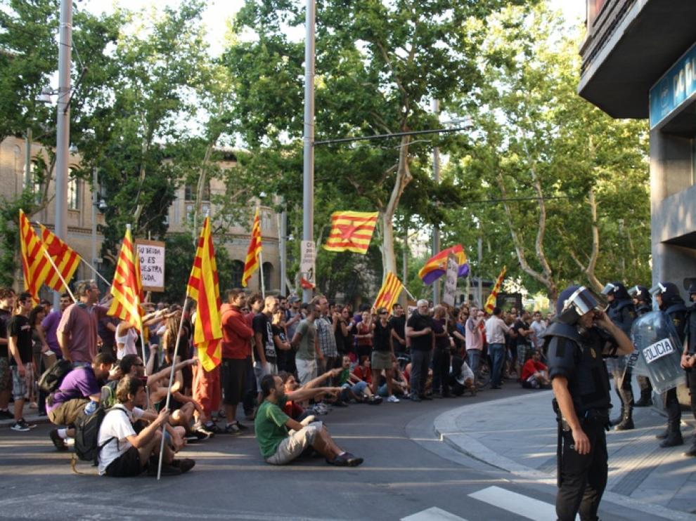 Manifestación en Zaragoza contra de los ajustes del Gobierno