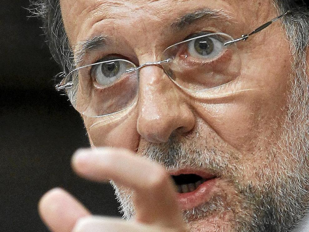 Mariano Rajoy, durante su intervención en el Congreso de los Diputados.