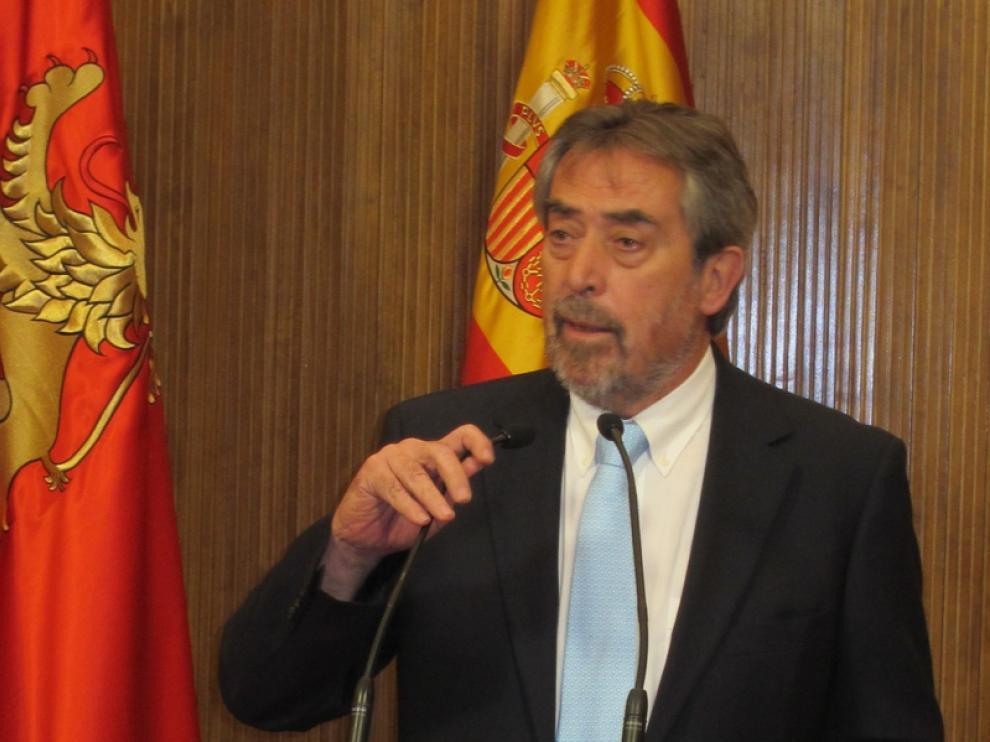 El alcalde de Zaragoza, Juan Alberto Belloch, PSOE
