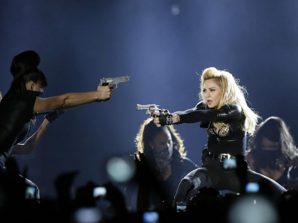 Madonna durante un concierto