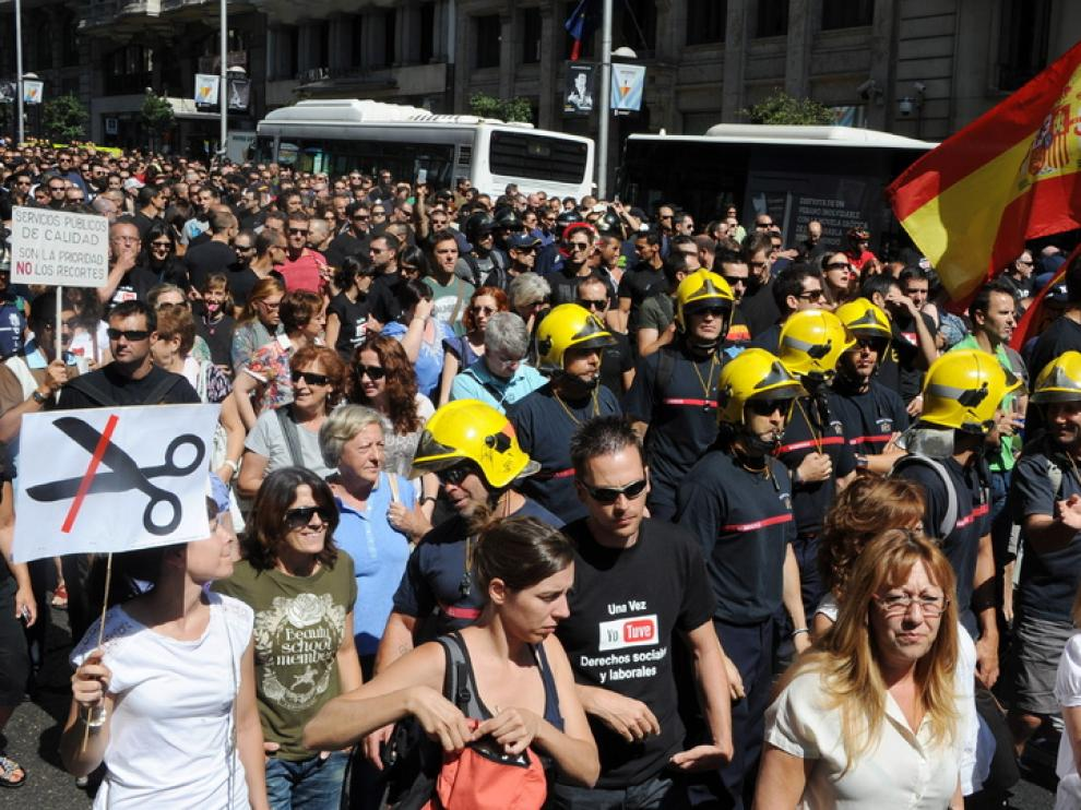 Protestas de los funcionarios en Madrid