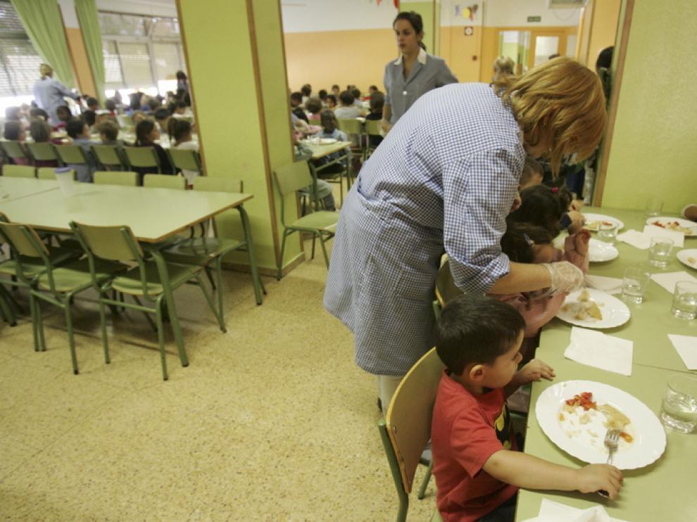 Comedor del colegio Sancho Ramírez, en Huesca