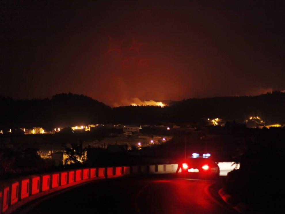 Incendio en el sur de Tenerife, cerca del municipio de Vilaflor