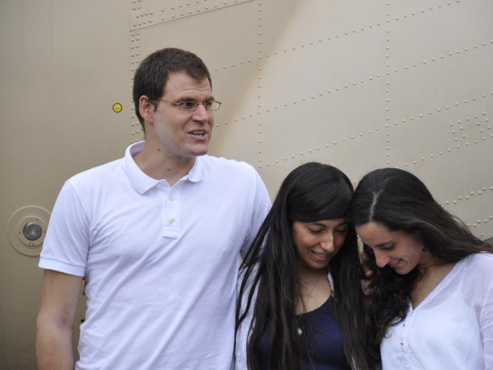 Enric Gonyalons, Ainhoa Fernández de Rincón y Rossella Urru