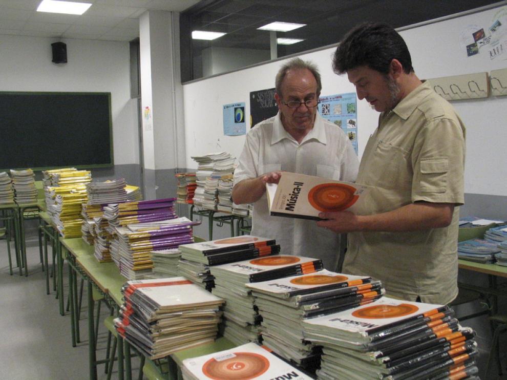 IES Sierra de San Quílez de Binéfar, que reciclará los libros