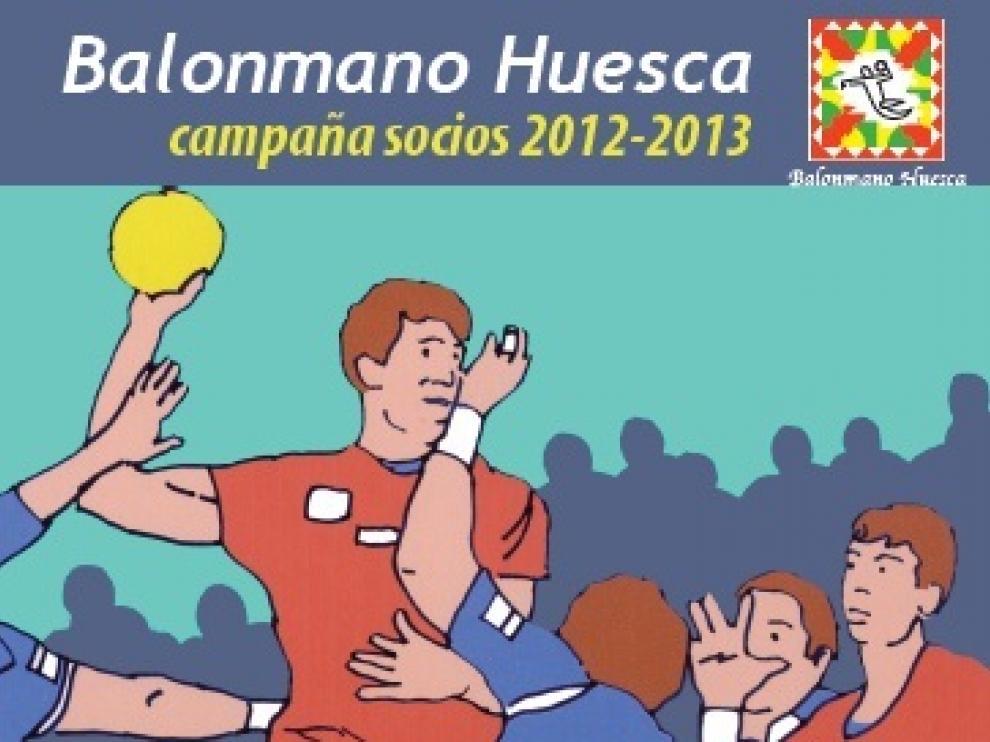Cartel de la campaña de socios del BM Huesca