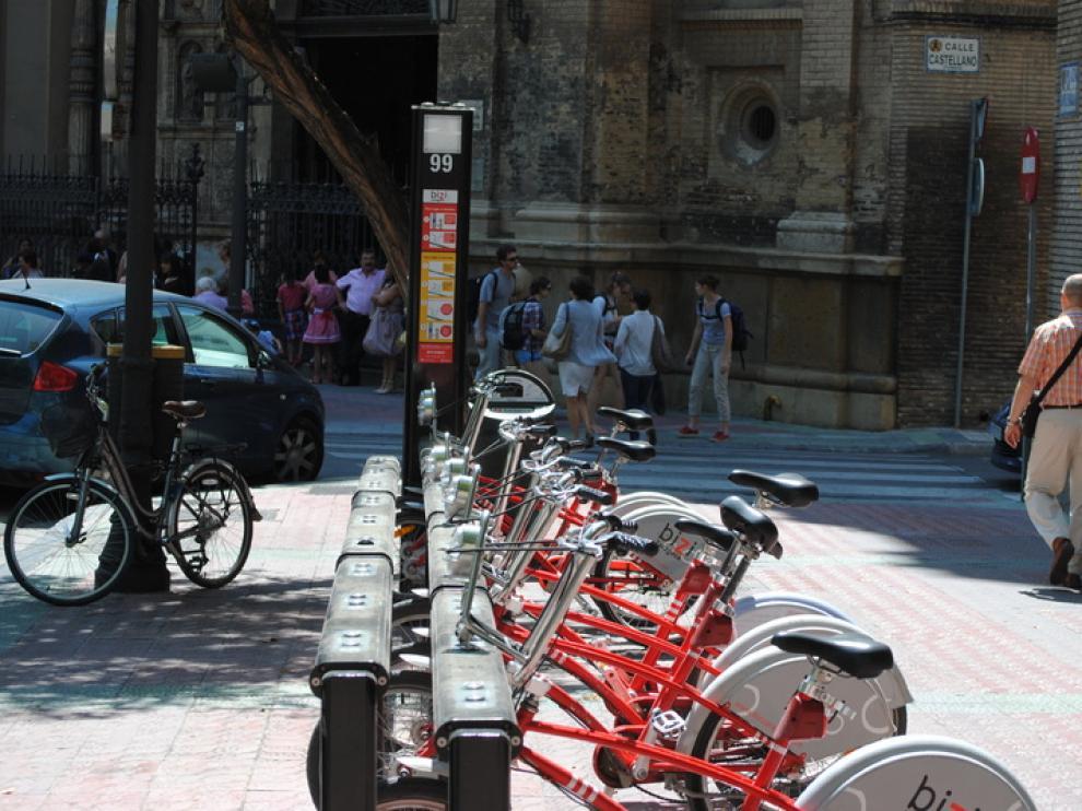 El servicio de alquiler de bicicletas del Ayuntamiento de Zaragoza.