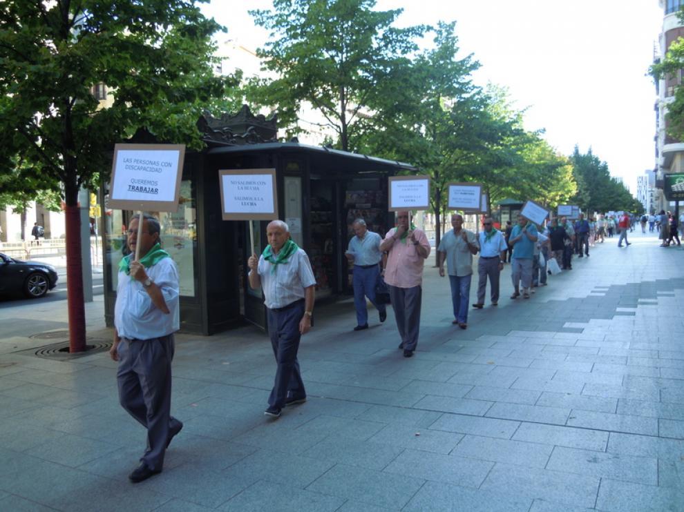 Protesta de Adislaf contra los recortes