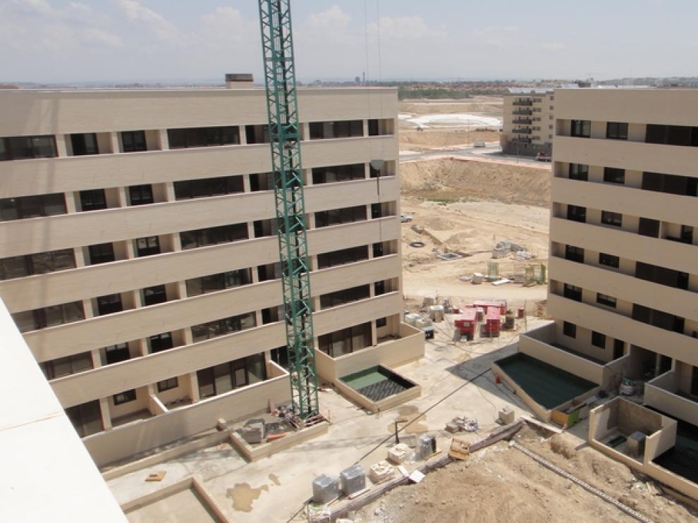 La construcción de los edificios en Arcosur