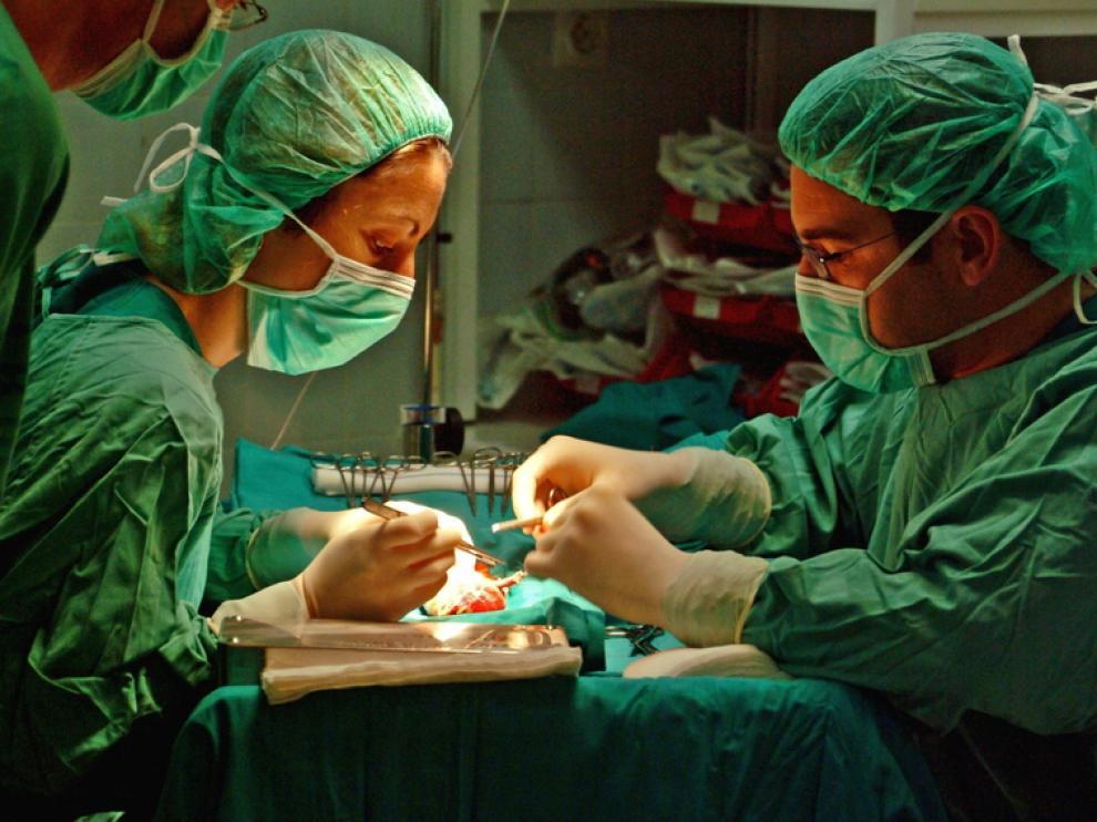 Intervención de un trasplante.