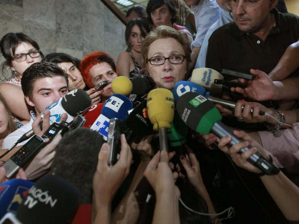 La consejera de Hacienda de la Junta de Andalucía a la salida del Consejo de Política Fiscal