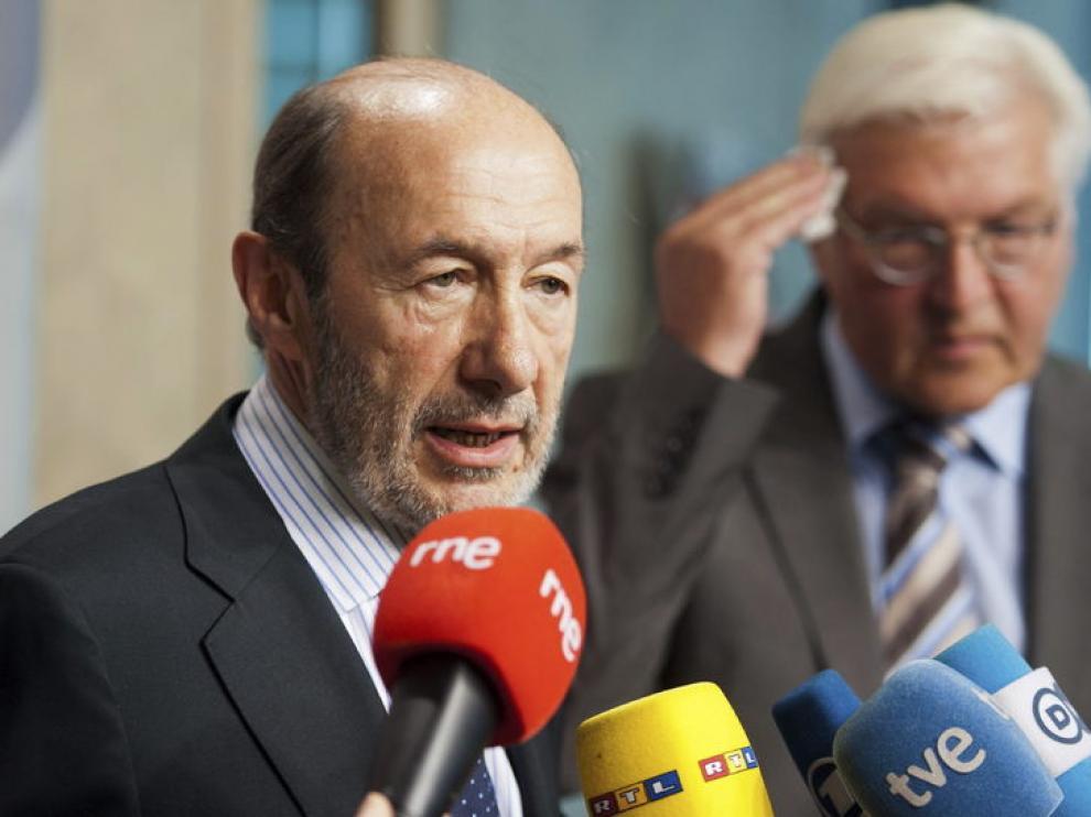 Alfredo Pérez Rubalcaba en Berlín